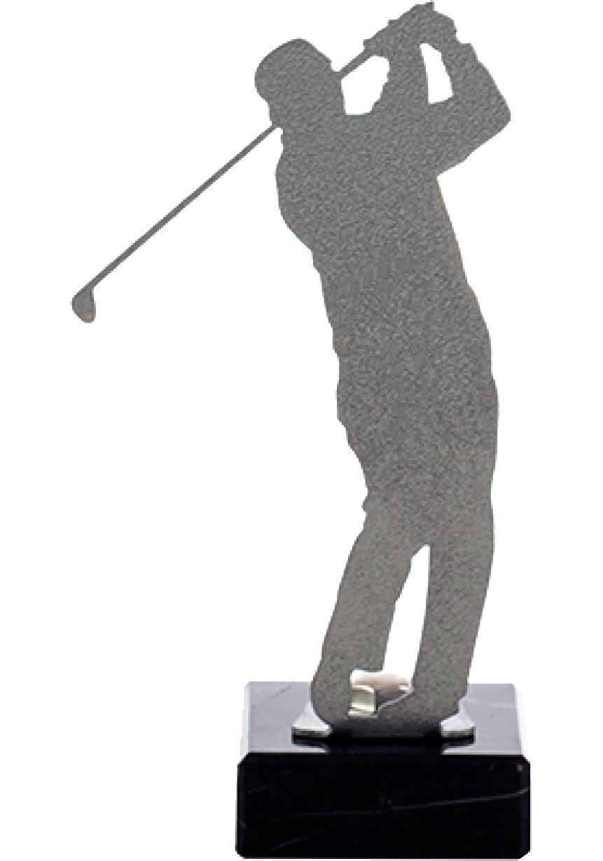 Golf Trophy aus Metall