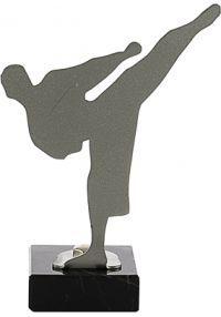 Trofeo con figura realizado en metal