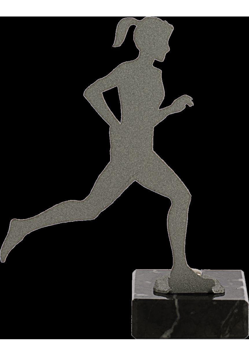 Trofeo de Cross para mujer realizado en metal