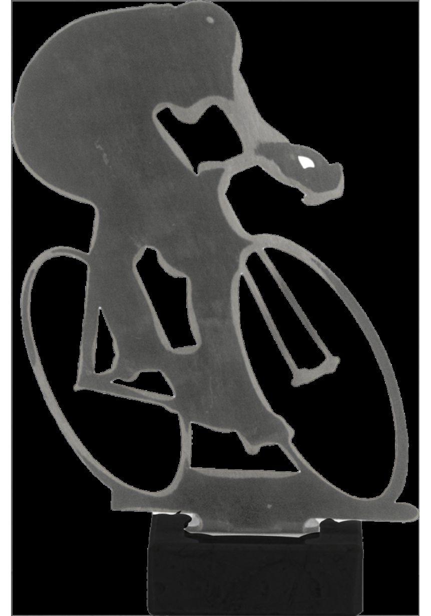 Trofeo de Ciclismo realizado en metal