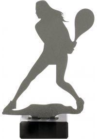 Weibliche Tennis Trophy aus Metall