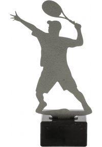 Tennis Trophy aus Metall