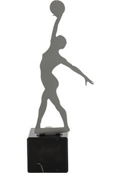 Trofeo de Gimnasia rítmica realizado en metal