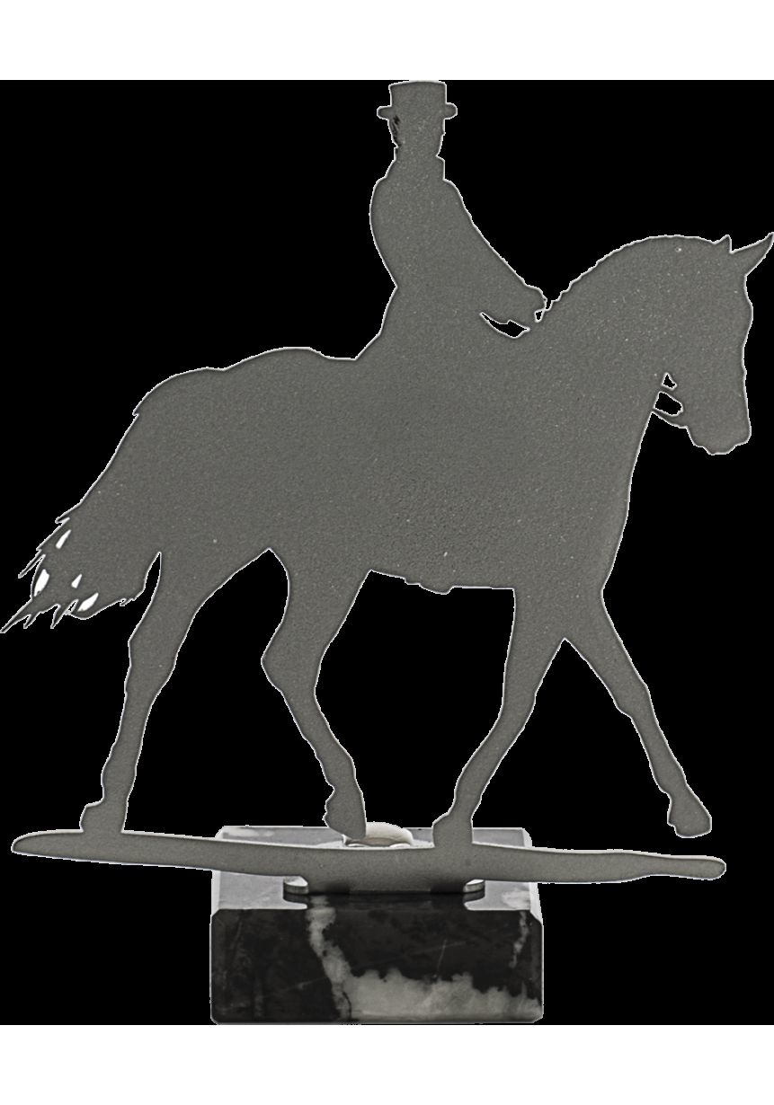 Horses trophy made of metal