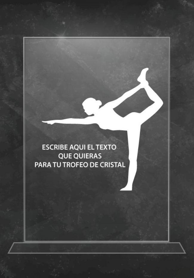 Trofeo de cristal de yoga