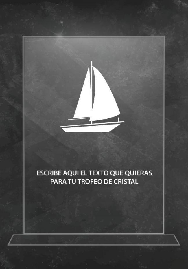 Trofeo de cristal de vela