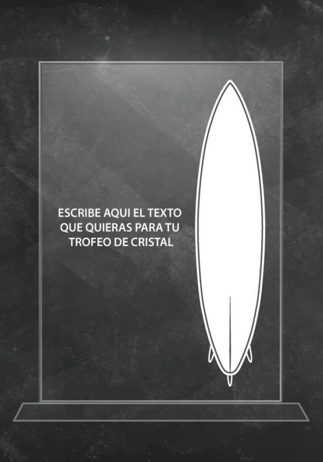 Trofeo de cristal surf