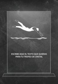natation trophée en cristal