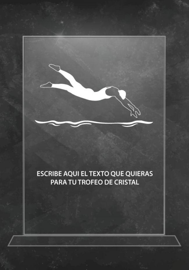 Trofeo de cristal natación