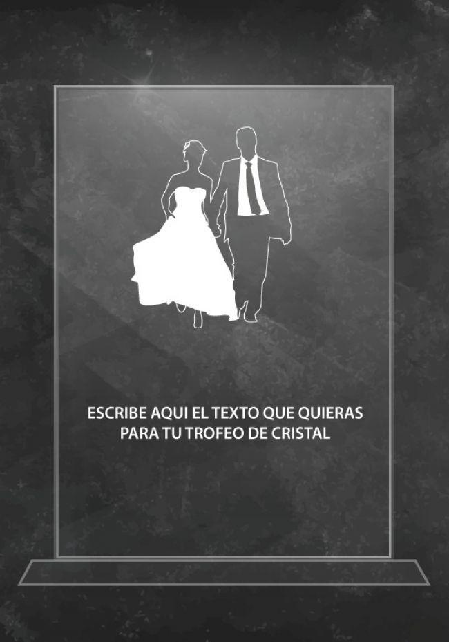 Trofeo de cristal boda