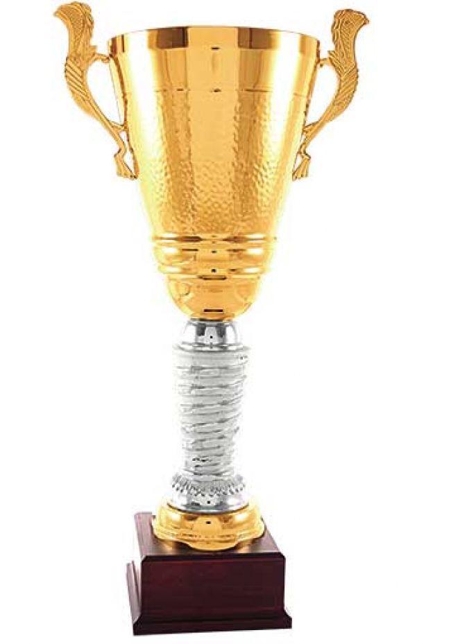 Trofeo copa oro asas doble aro