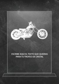 Trofeo de cristal motos