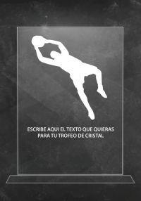 Trofeo de cristal portero de fútbol