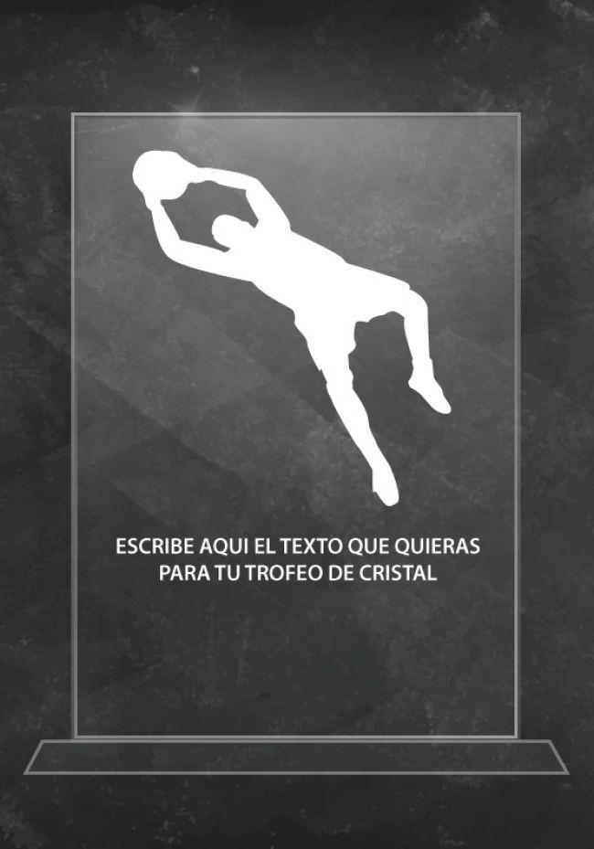 Cristal goleiro troféu do futebol