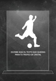 Trofeo de cristal fútbol