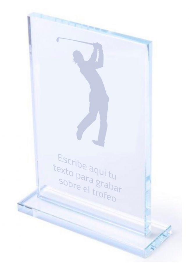 Trofeo de cristal golf