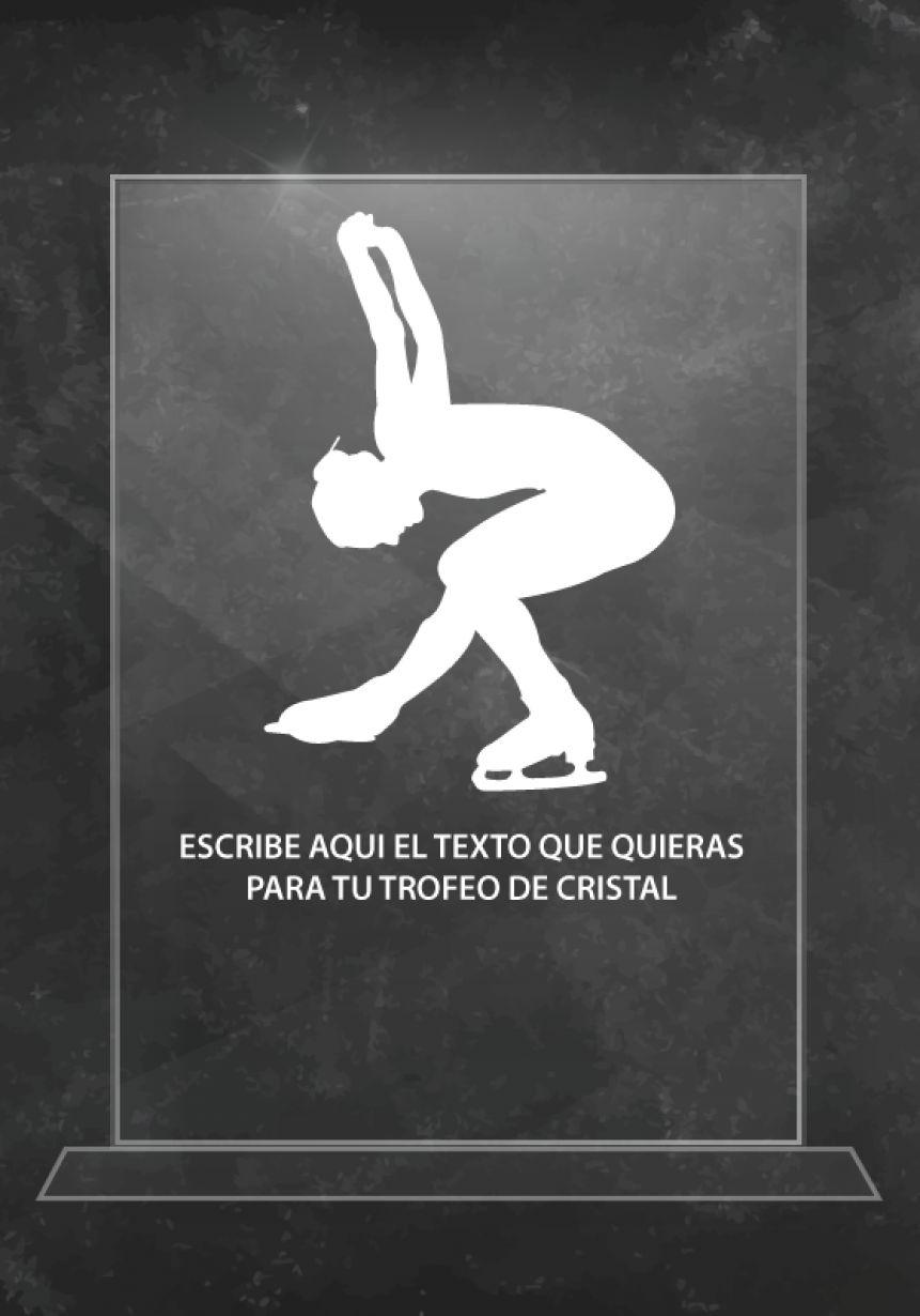 Trofeo de cristal patinaje artístico