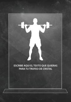 Trofeo de cristal gimnasio