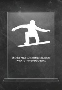 Trofeo de cristal snowboard