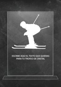 Trofeo de cristal ski