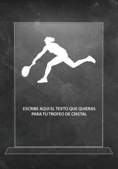 Trofeo de cristal tenis