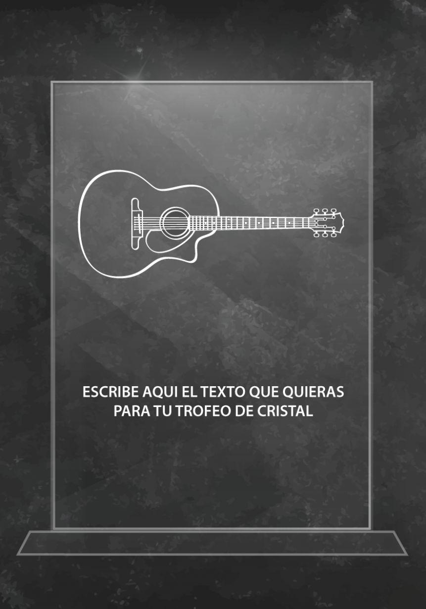Trofeo de cristal guitarra
