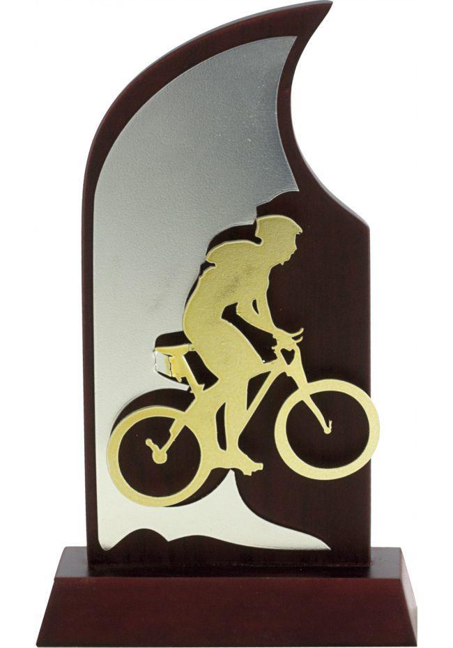 Trofeo en madera con figura de cualquier deporte