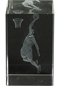 Trofeo cristal 3D Basket Masculino-1
