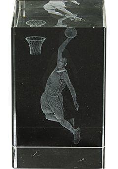 Trofeo cristal 3D Basket Masculino Thumb