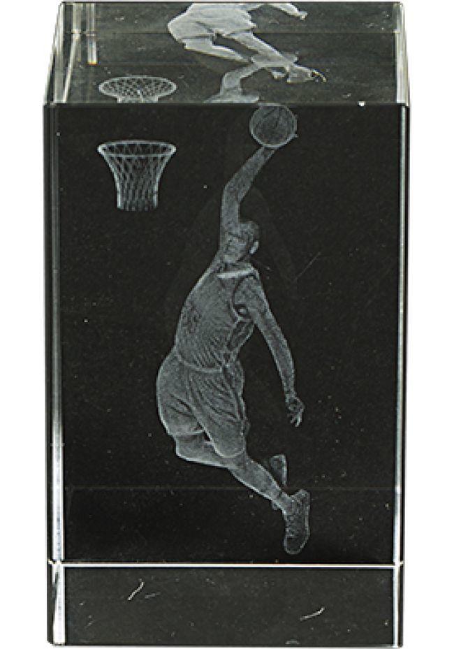 Trofeo cristal 3D Basket Masculino