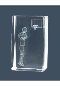 Trofeo cristal 3D Basket Femenino