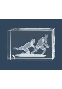 Trofeo cristal 3D Rugby