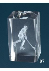 trophée en cristal 3D Hockey Player