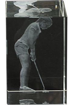 Trofeo cristal 3D Jugador Golf Femenino-1