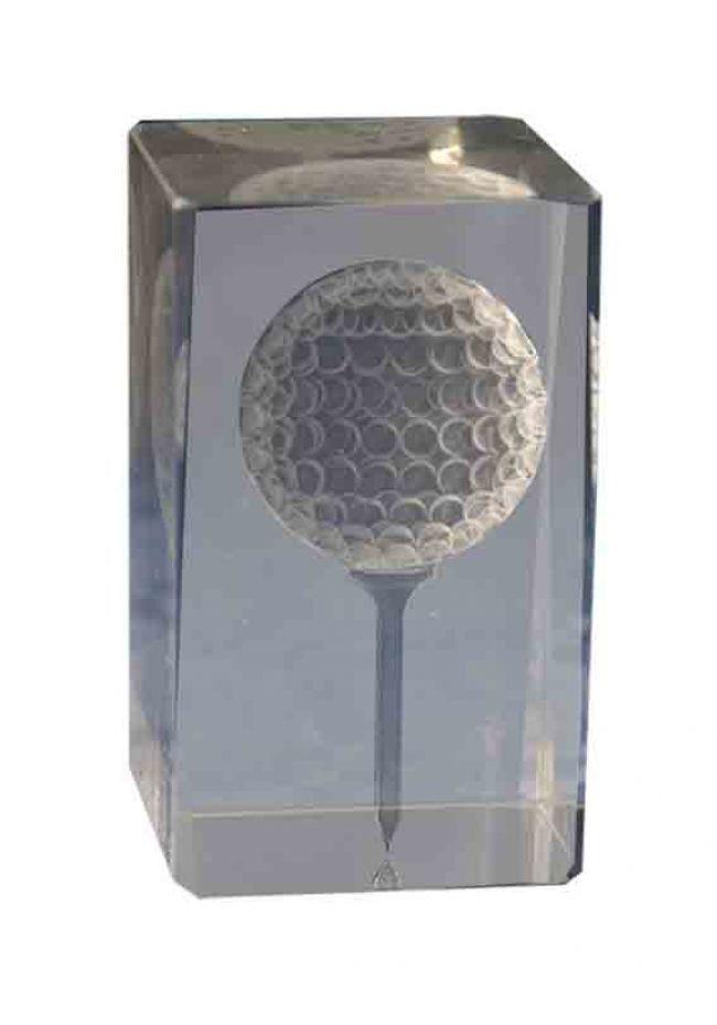Trofeo cristal 3D Golf