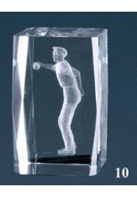 Trofeo cristal 3D Jugador Petanca