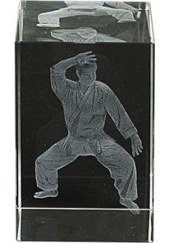 Trofeo cristal 3D Karate Thumb