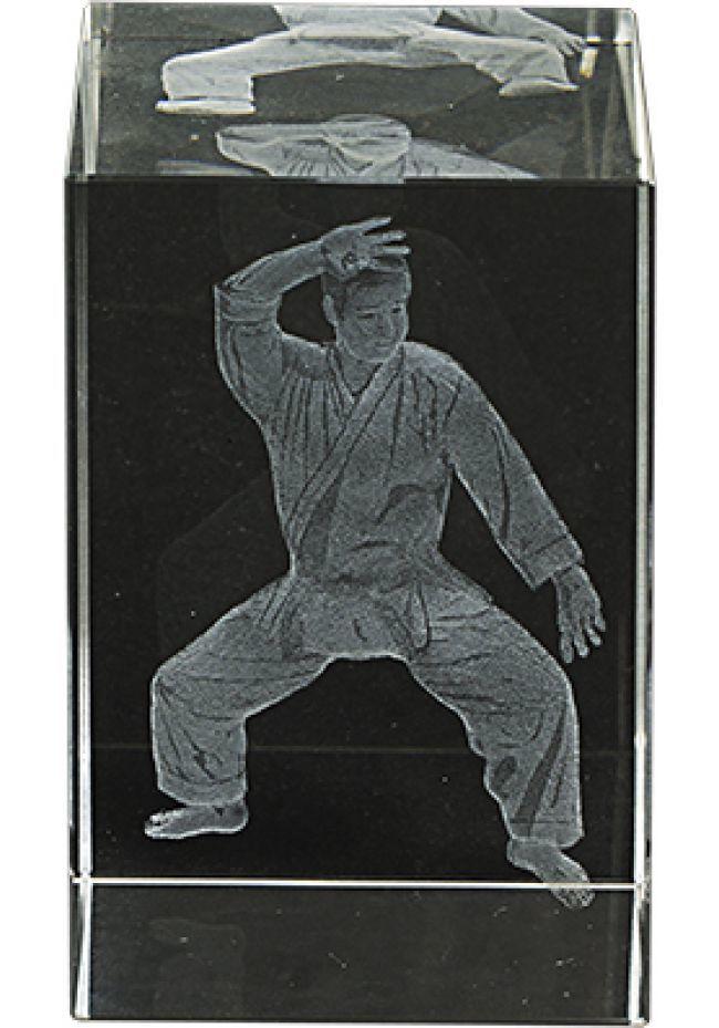 Trofeo cristal 3D Karate