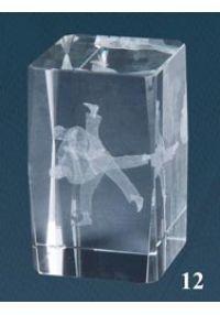 cristal 3D trophée Judo