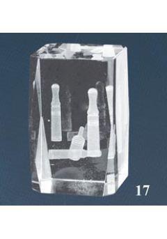 Trofeo cristal 3D Bolos