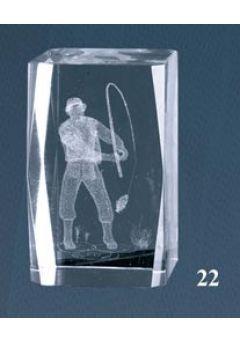 Trofeo cristal 3D Pesca Thumb