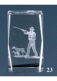 Trofeo cristal 3D Caza Thumb