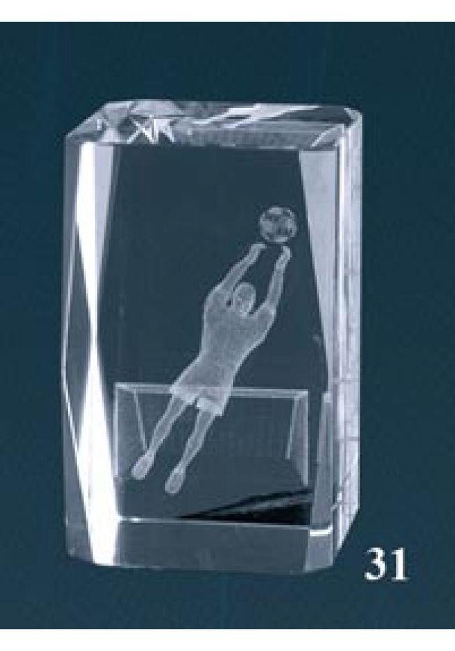 Trofeo cristal 3D Portero