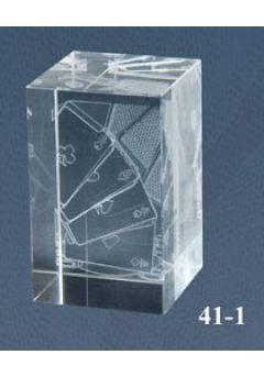 Trofeo cristal 3D Cartas Póker