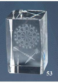 Cristal trophée 3D Darts