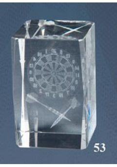 Trofeo cristal 3D Dardos