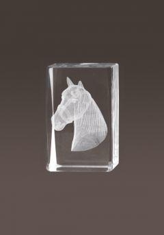 Trofeo cristal 3D Caballos Thumb