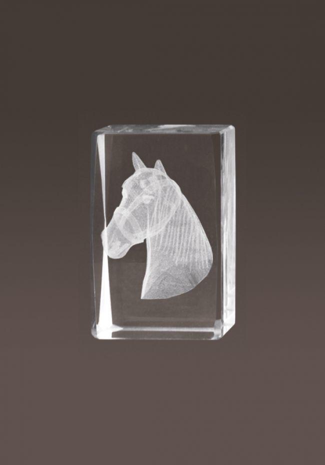 Trofeo cristal 3D Caballos