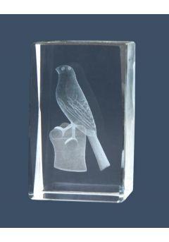 Trofeo cristal 3D Pájaros Thumb