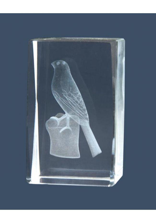 Trofeo cristal 3D Pájaros